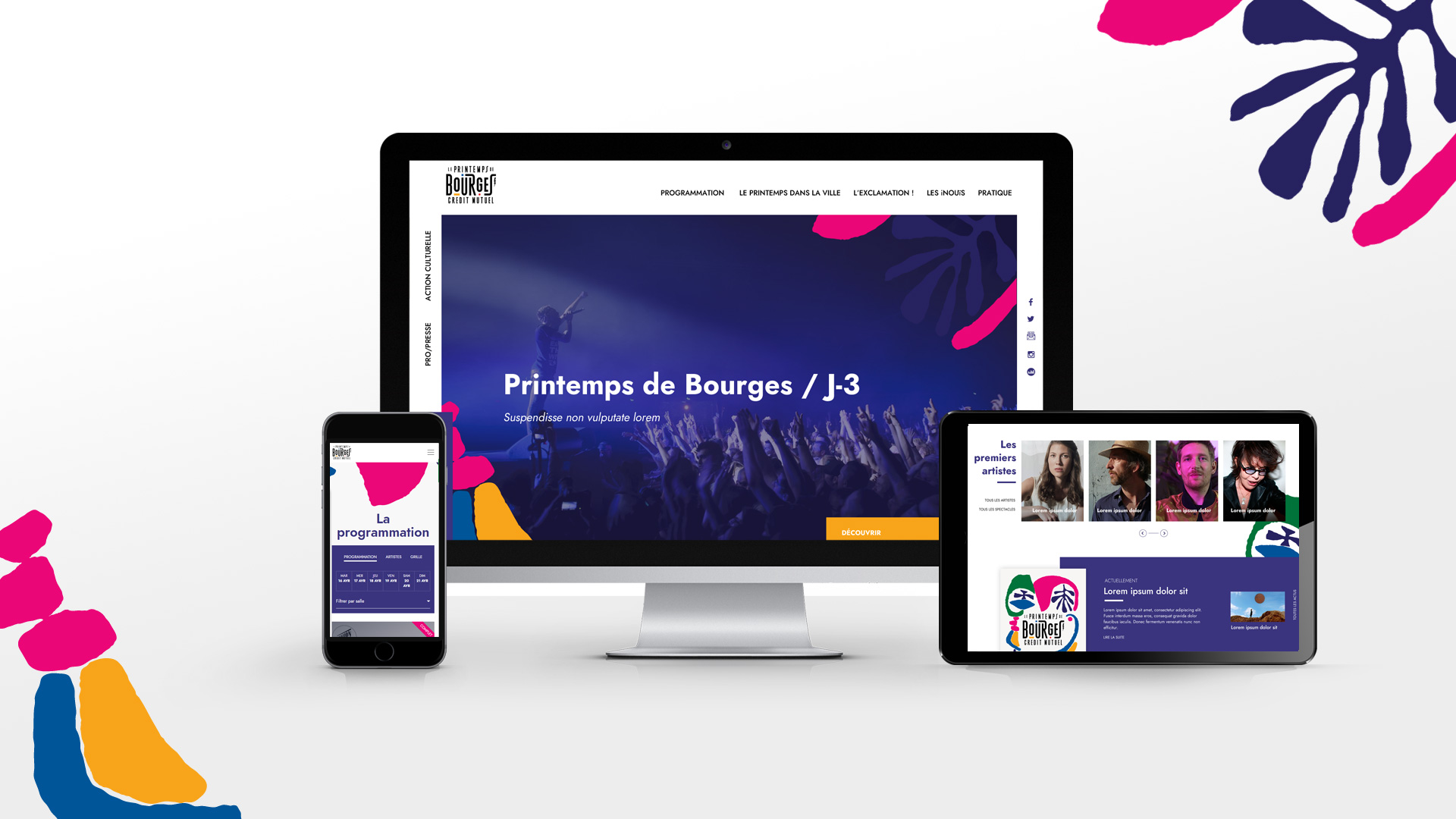 Site internet Printemps de Bourges