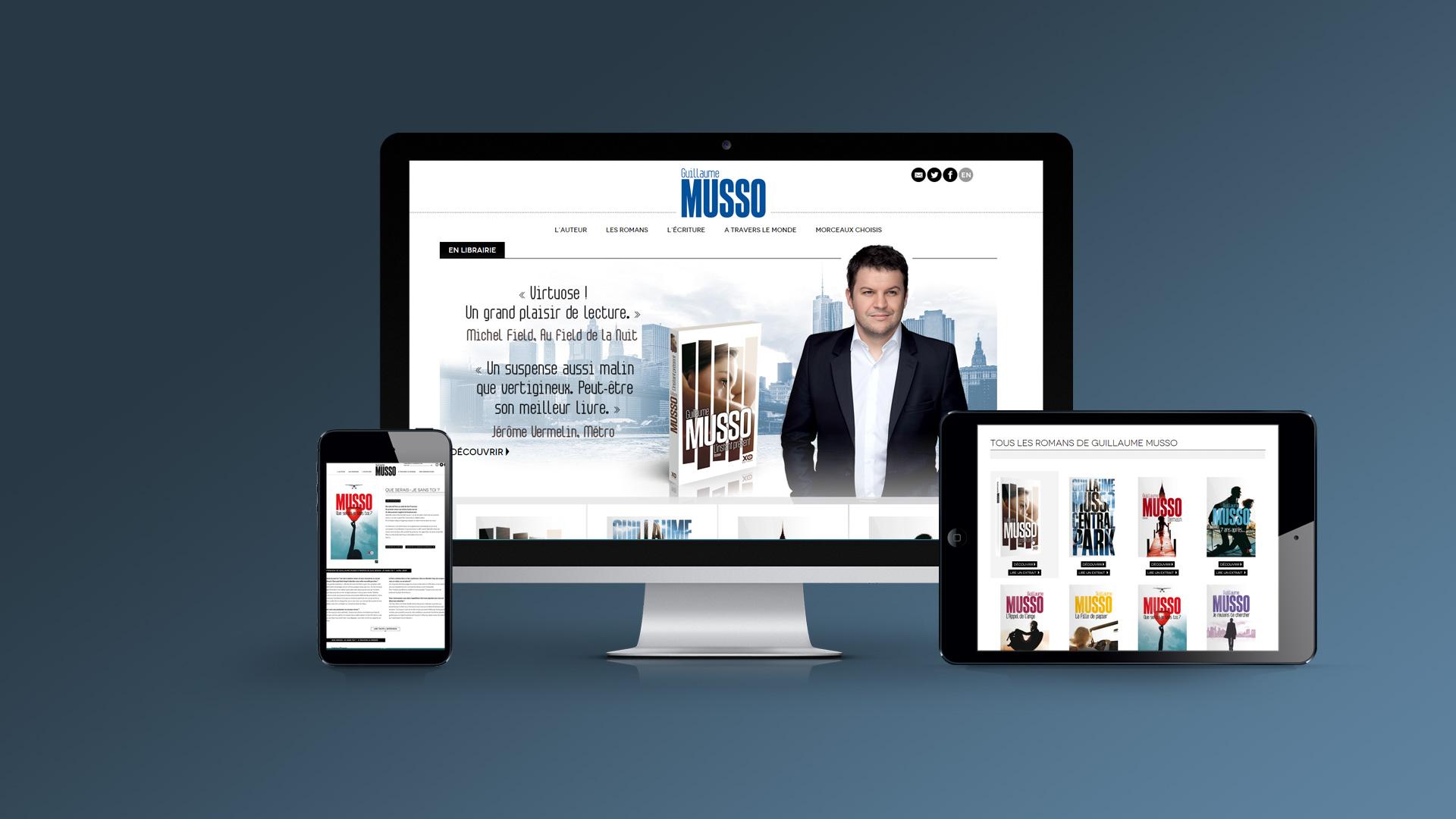 Site internet de Guillaume Musso