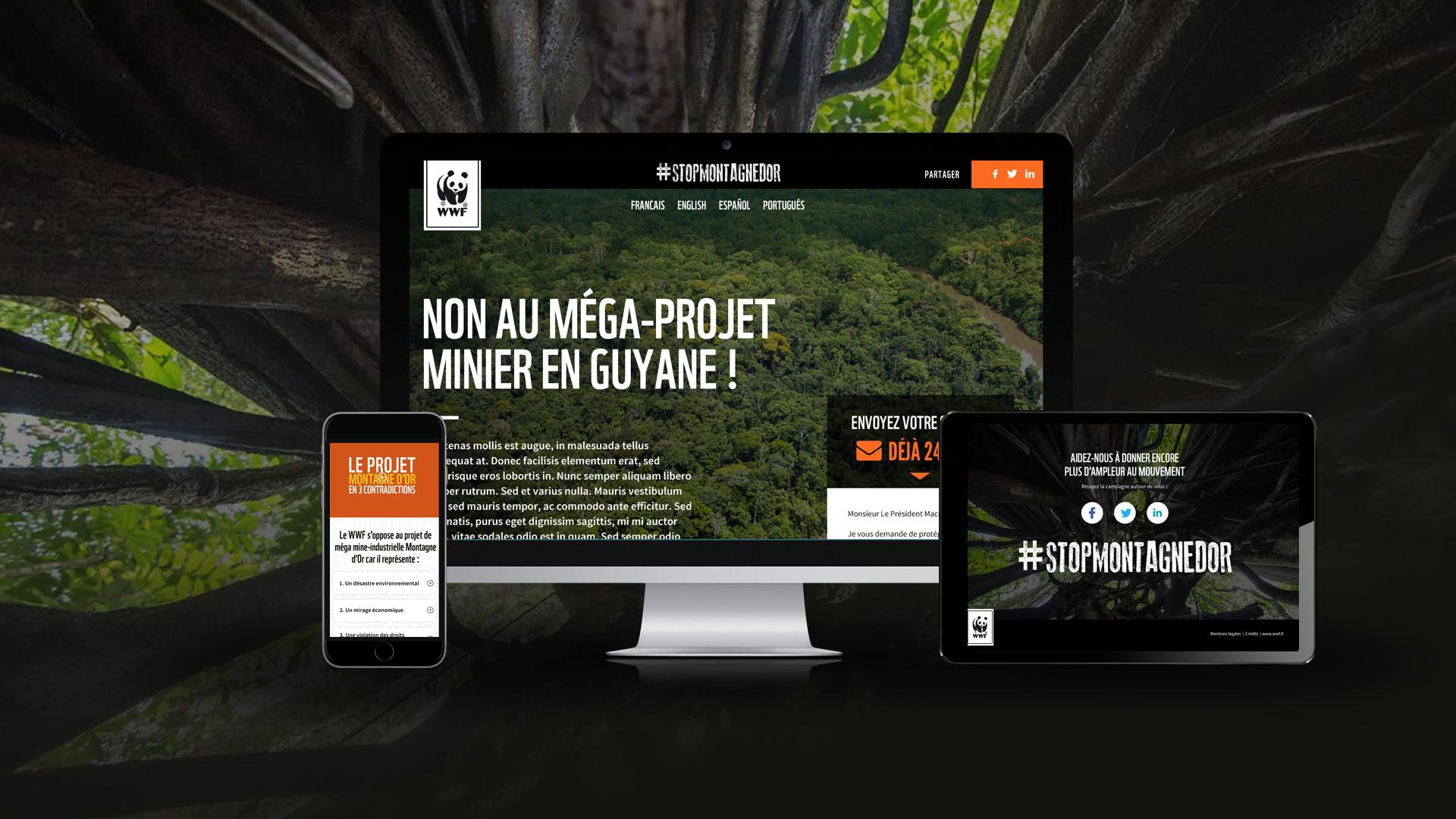 Plateforme de pétitions de WWF France