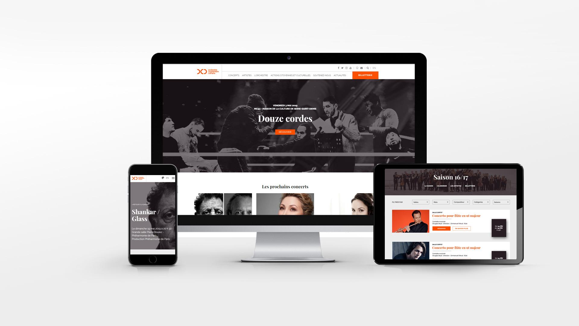 La plateforme digitale de l'Orchestre de Chambre de Paris